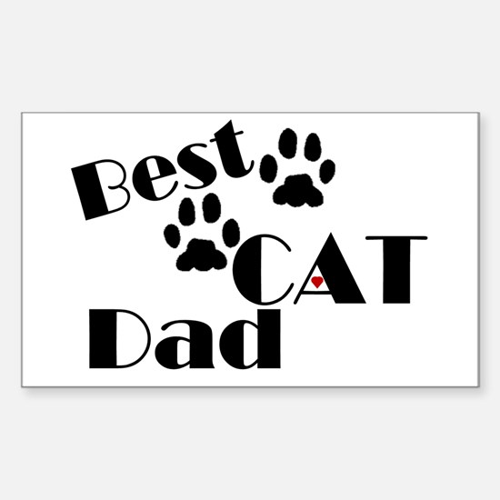 Best Cat Dad Rectangle Decal
