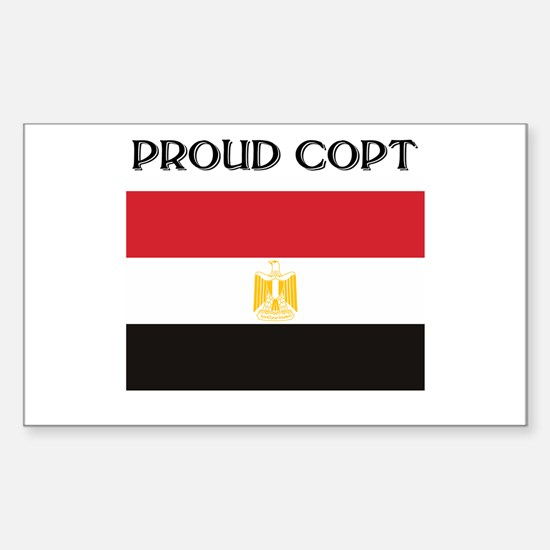 Egyptian Copt Rectangle Decal