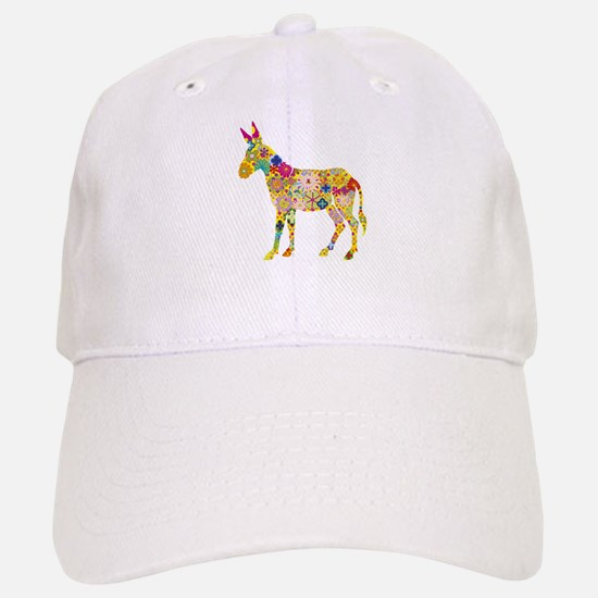 'Flower Donkey' White Cap
