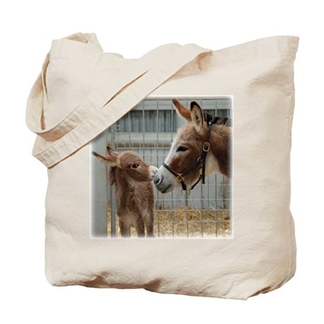 Donkey with Foal Tote Bag