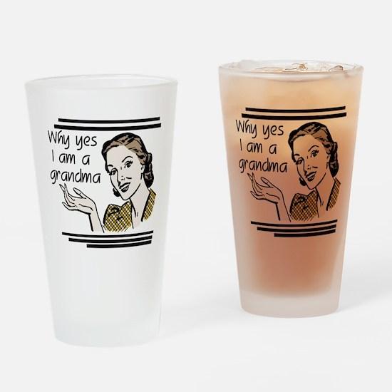 Retro Grandma Drinking Glass