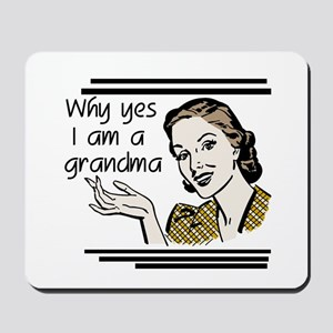 Retro Grandma Mousepad