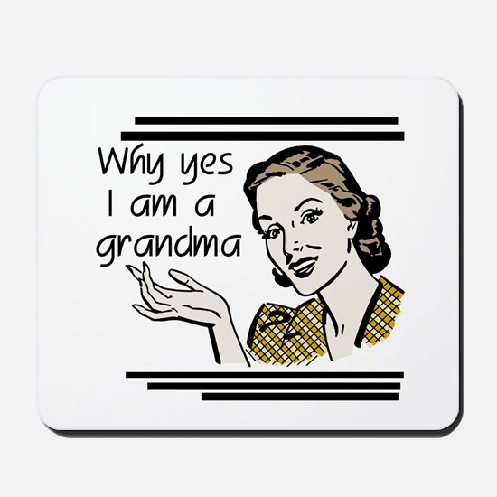 Retro Grandma Mousepad