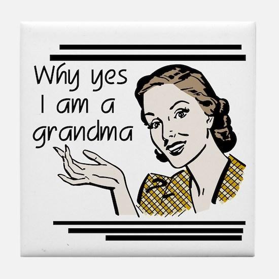 Retro Grandma Tile Coaster
