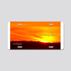 Twilight Breaking Dawn Sunrise Aluminum License Pl