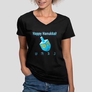 Dreidel Women's V-Neck Dark T-Shirt
