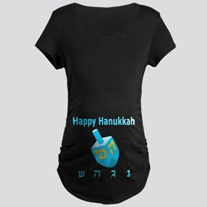 Dreidel Maternity Dark T-Shirt