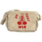 Red GO FIGHT WIN Messenger Bag