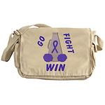 Periwinkle WIN Ribbon Messenger Bag