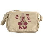 Burgundy WIN Ribbon Messenger Bag
