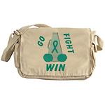 Teal GO FIGHT WIN Messenger Bag