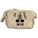 Black GO FIGHT WIN Messenger Bag