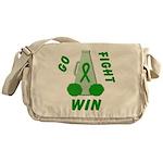 Green WIN Ribbon Messenger Bag