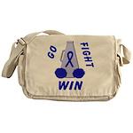 Blue WIN Ribbon Messenger Bag