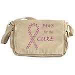 Purple Paws4Cure Messenger Bag