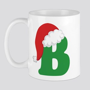Christmas Letter B Alphabet Mug