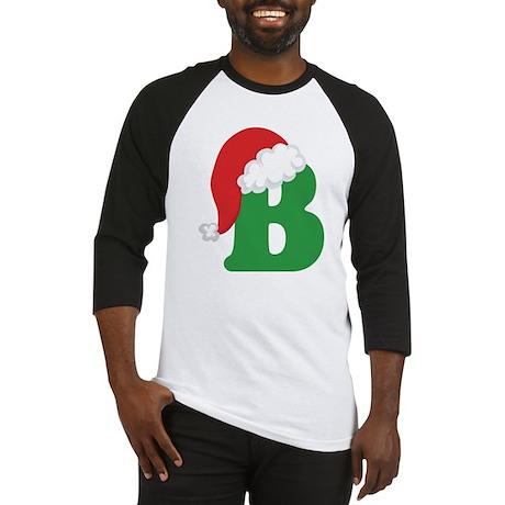 Christmas Letter B Alphabet Baseball Jersey