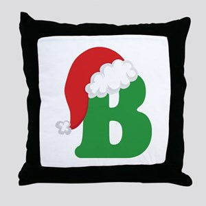 Christmas Letter B Alphabet Throw Pillow