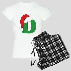 Christmas Letter D Alphabet Women's Light Pajamas