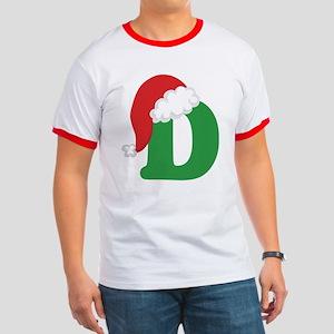 Christmas Letter D Alphabet Ringer T