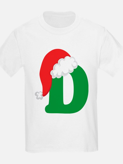 Christmas Letter D Alphabet T-Shirt
