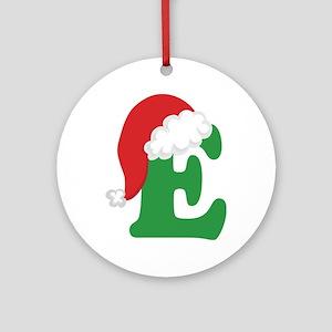 Christmas Letter E Alphabet Ornament (Round)