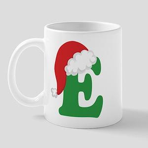 Christmas Letter E Alphabet Mug