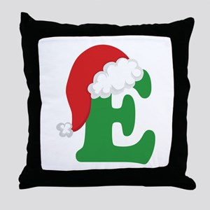 Christmas Letter E Alphabet Throw Pillow