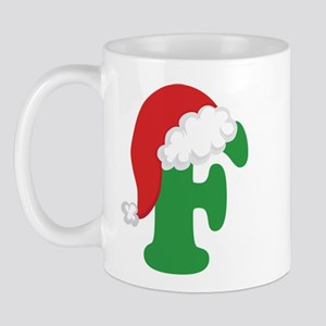 Christmas Letter F Alphabet Mug