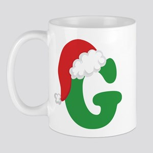 Christmas Letter G Alphabet Mug