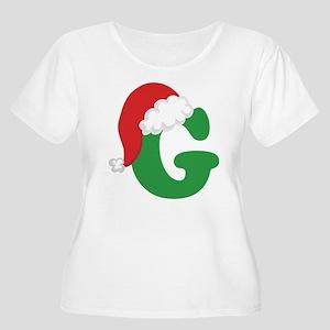 Christmas Letter G Alphabet Women's Plus Size Scoo