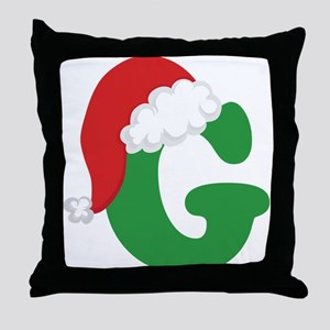 Christmas Letter G Alphabet Throw Pillow