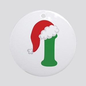 Christmas Letter I Alphabet Ornament (Round)