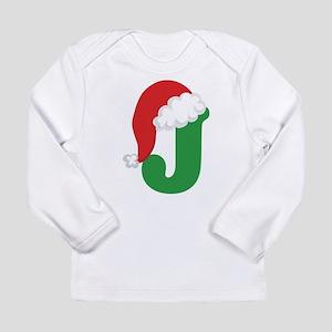 Christmas Letter J Alphabet Long Sleeve Infant T-S