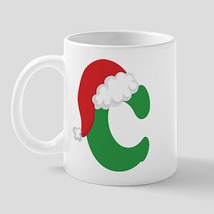Christmas Letter C Alphabet Mug
