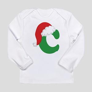 Christmas Letter C Alphabet Long Sleeve Infant T-S