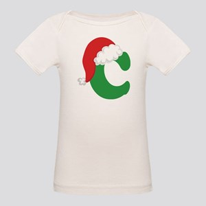 Christmas Letter C Alphabet Organic Baby T-Shirt