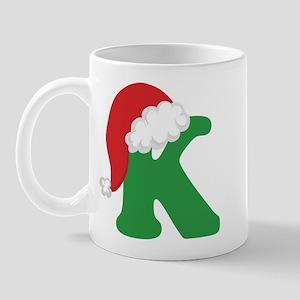 Christmas Letter K Alphabet Mug