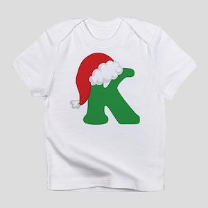 Christmas Letter K Alphabet Infant T-Shirt