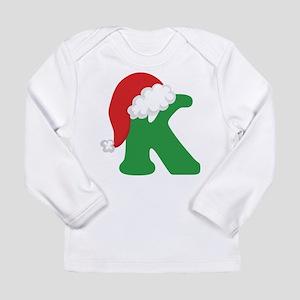 Christmas Letter K Alphabet Long Sleeve Infant T-S