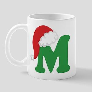 Christmas Letter M Alphabet Mug