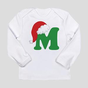 Christmas Letter M Alphabet Long Sleeve Infant T-S
