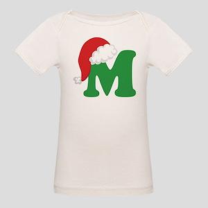 Christmas Letter M Alphabet Organic Baby T-Shirt