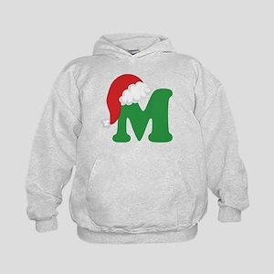 Christmas Letter M Alphabet Kids Hoodie