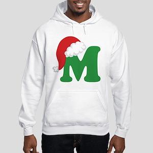 Christmas Letter M Alphabet Hooded Sweatshirt