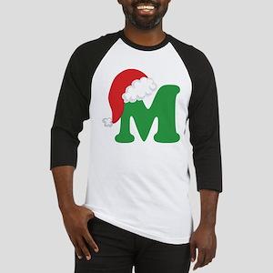 Christmas Letter M Alphabet Baseball Jersey
