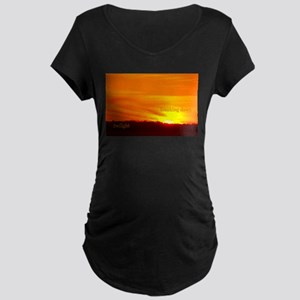 Twilight Breaking Dawn Sunrise Maternity Dark T-Sh