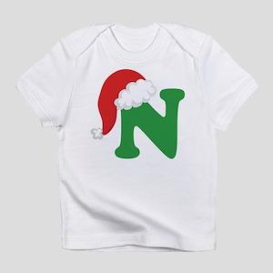 Christmas Letter N Alphabet Infant T-Shirt
