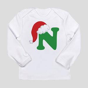 Christmas Letter N Alphabet Long Sleeve Infant T-S