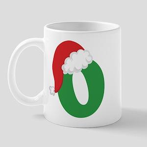 Christmas Letter O Alphabet Mug